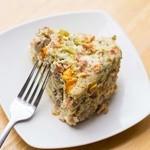 Keto Slow Cooker Leftovers Egg Bake - square