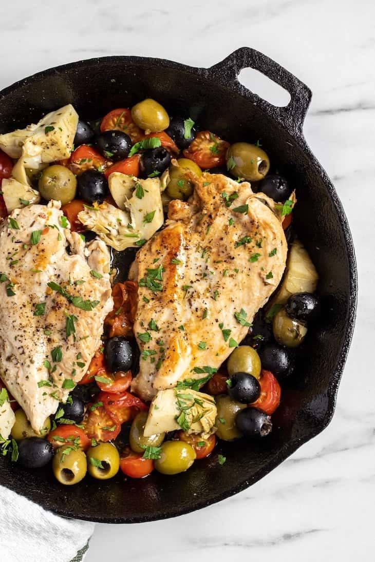 Keto Greek Chicken Skillet