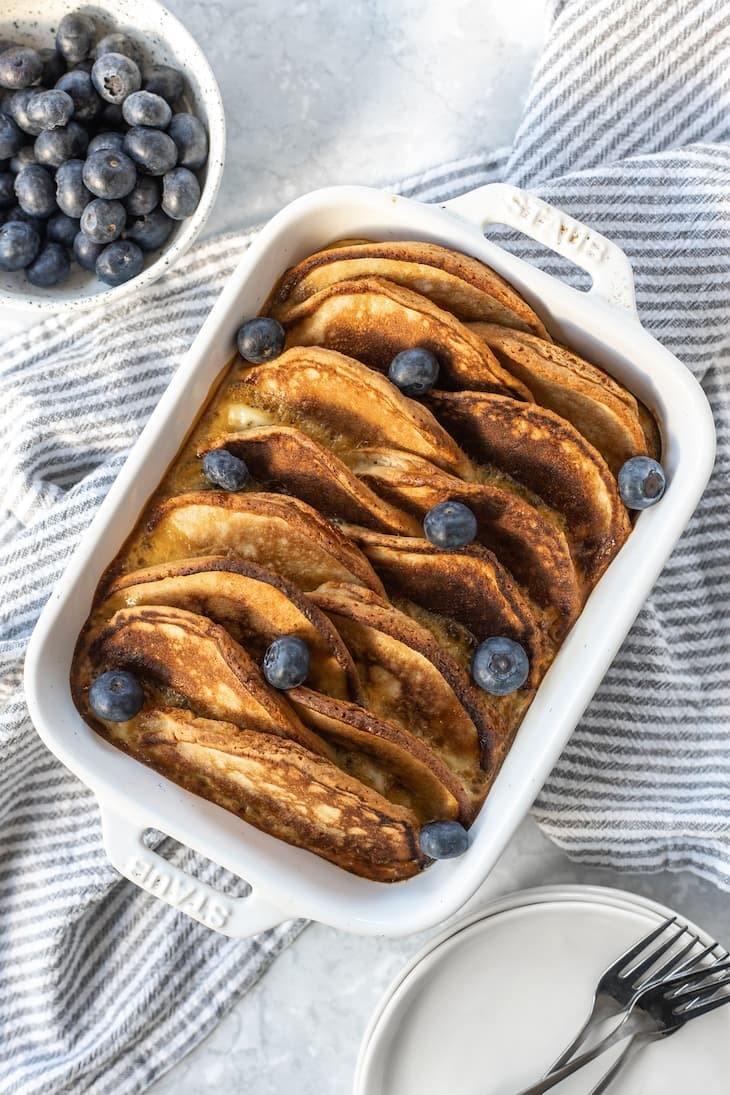 Keto Overnight Pancake Casserole