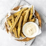 Keto Rosemary Eggplant Fries with Tahini Aioli Recipe #keto #recipe https://ketosummit.com/keto-rosemary-eggplant-fries-with-tahini-aioli-recipe/