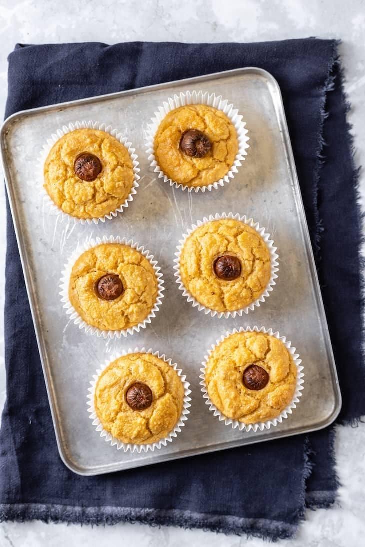 Keto Air Fryer Corn Dog Muffins Recipe #keto #recipe https://ketosummit.com/keto-air-fryer-corn-dog-muffins-recipe